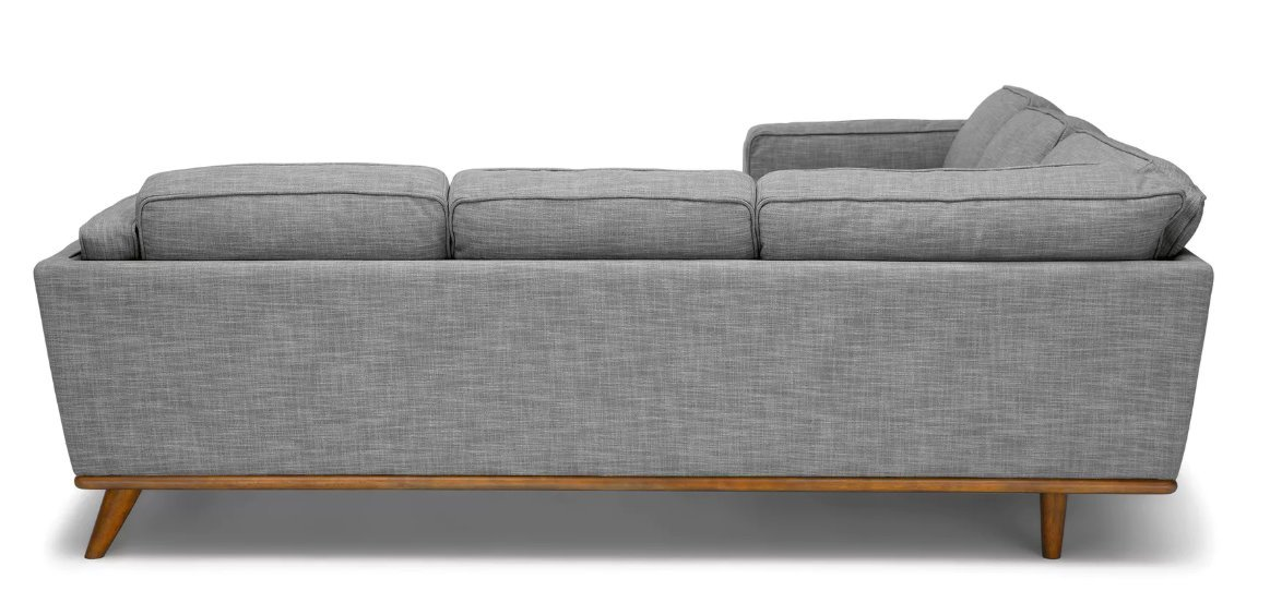 Timber Pebble Gray Corner Sectional 5+seater