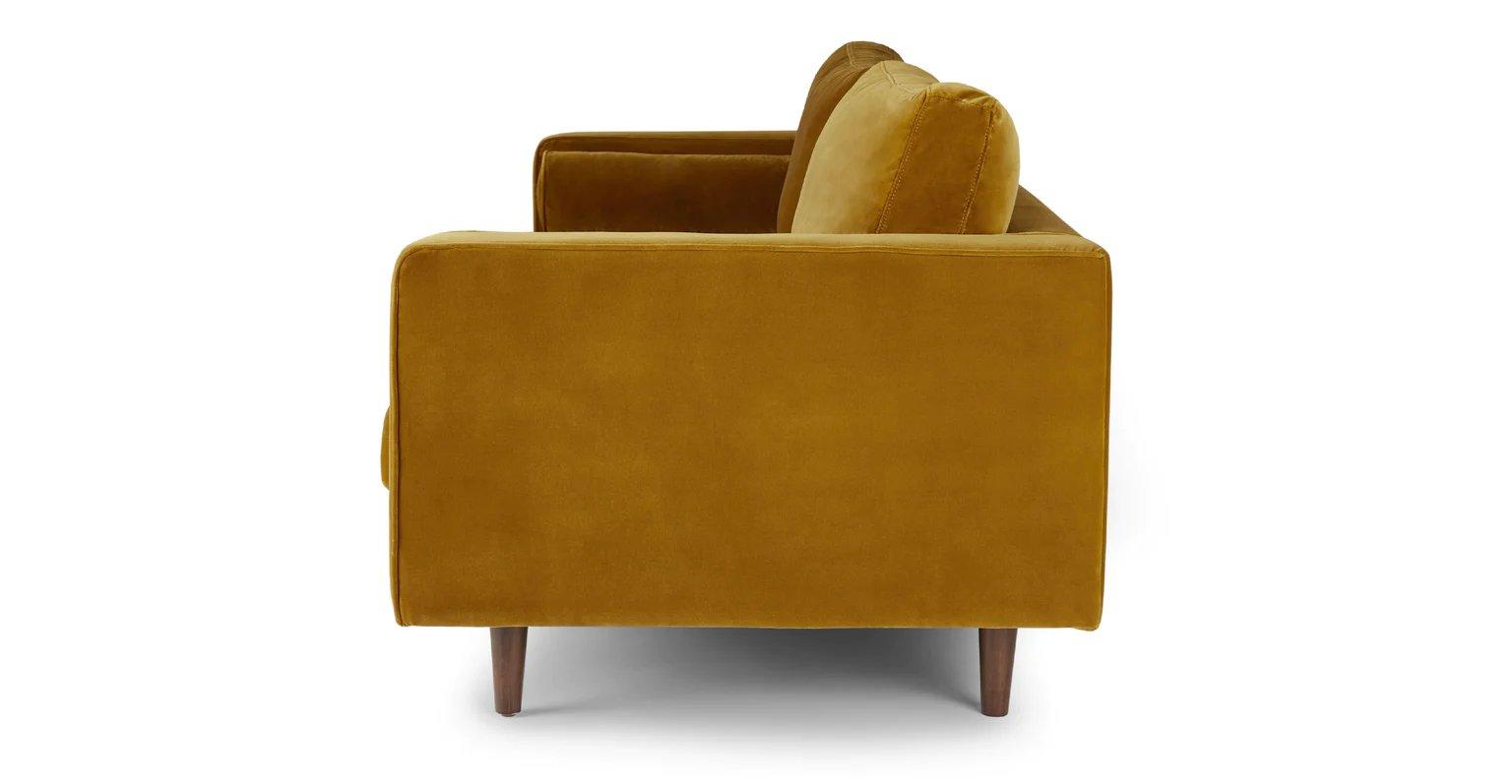 "Sven Yarrow Gold Sofa 88"""