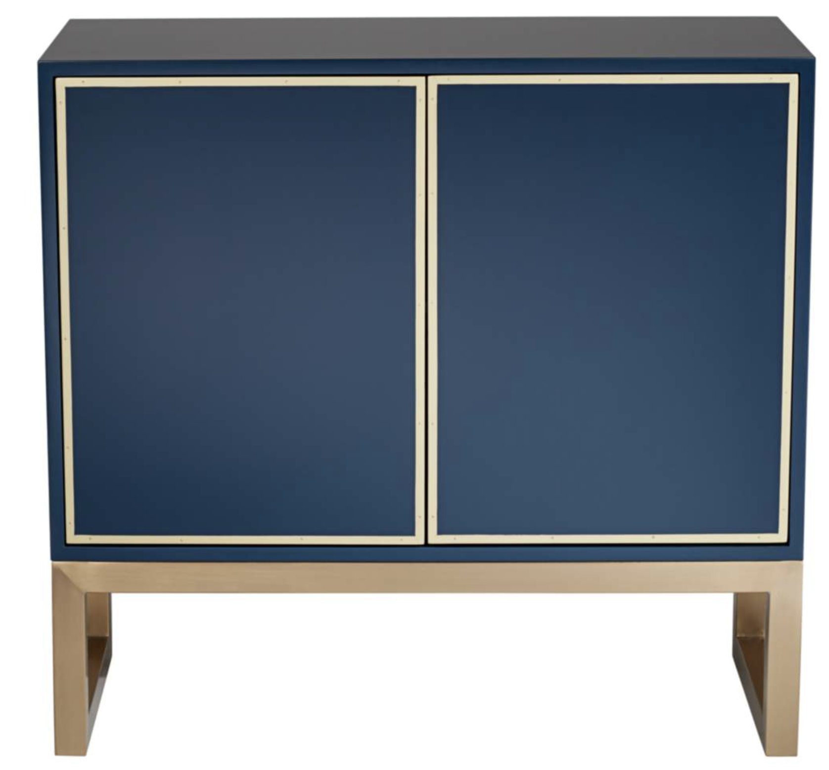 "Tarim 35 3/4"" Wide Blue and Gold 2-Door Accent Cabinet - Style # 79H97"
