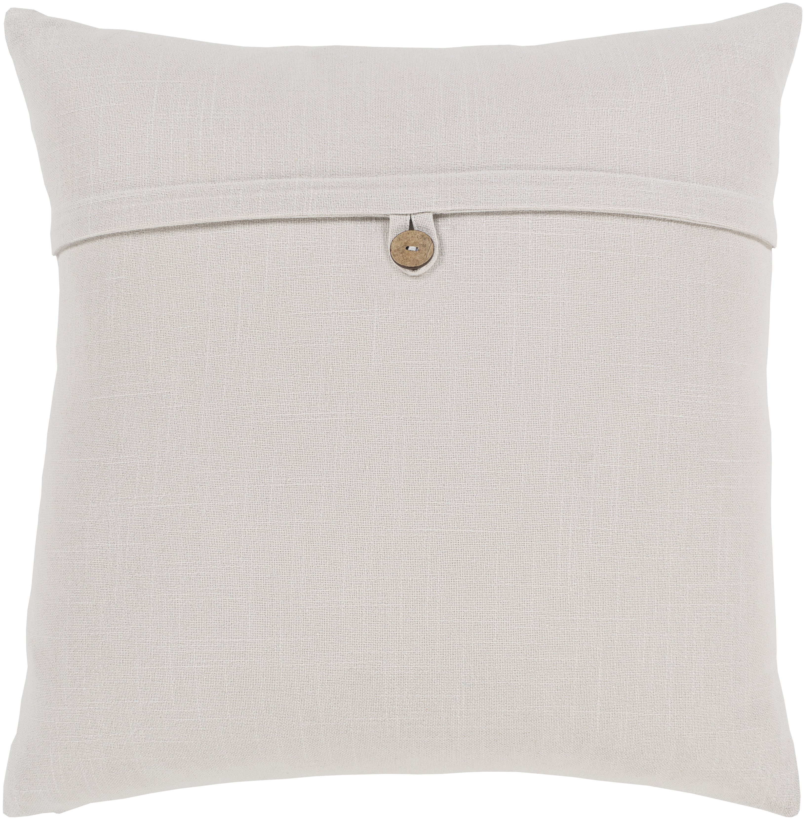 """Perine Pillow Cover, 18""""x 18"""", Ivory"""
