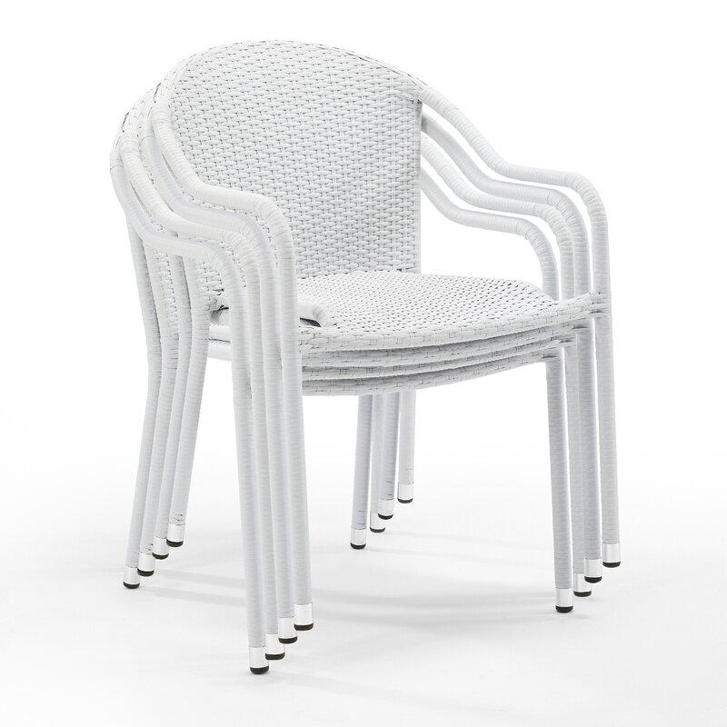 Janaysha Stacking Patio Dining Chair (Set of 4)
