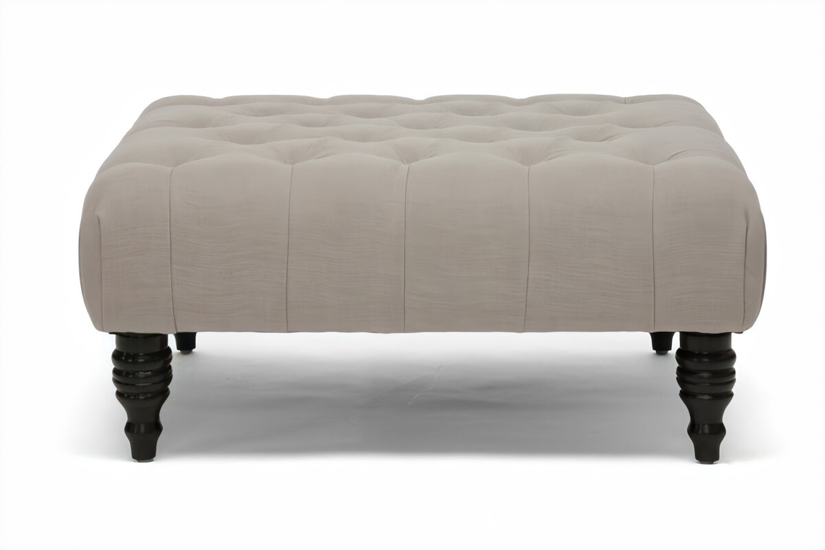 "35.25"" Tufted Square Cocktail Ottoman"