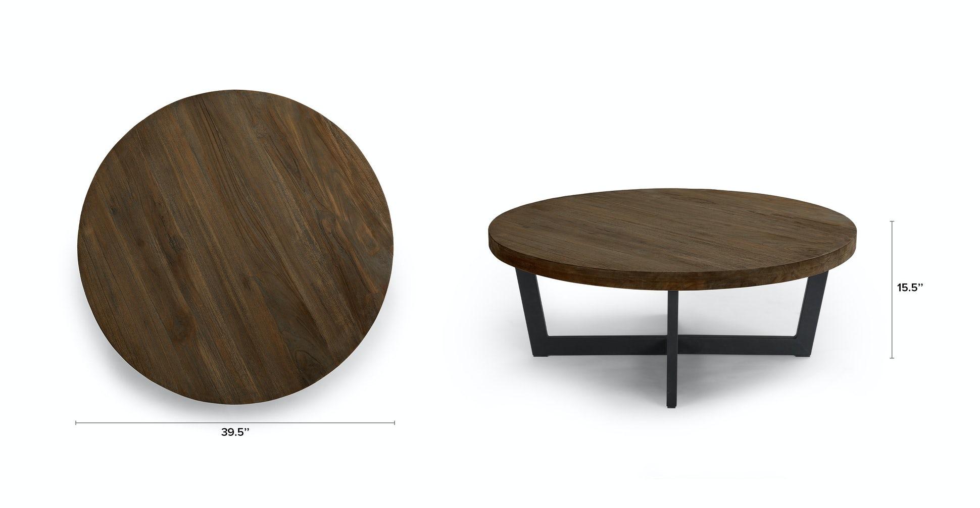 Toba Vintage Brown Coffee Table