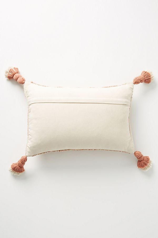 Joanna Gaines for Anthropologie Tasseled Olive Pillow