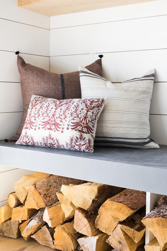 """FRENCH STRIPE PILLOW WITHOUT INSERT, 20"""" x 20"""""""