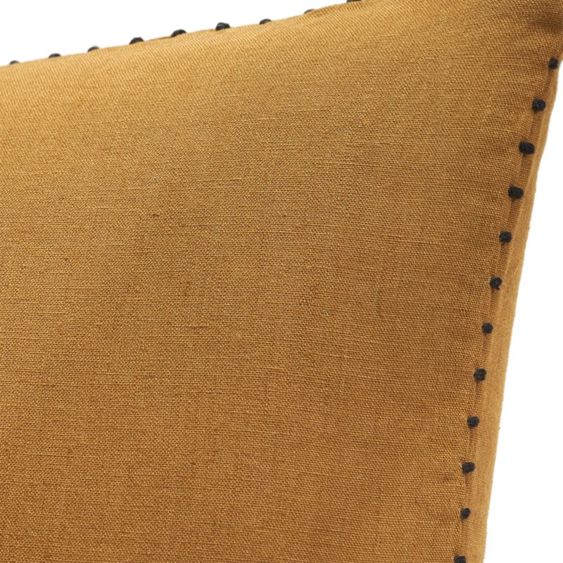 "18"" Lumiar Dijon Pillow with Down-Alternative Insert"