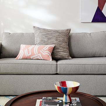 """Harris 86"""" Sofa, Poly, Performance Yarn Dyed Linen Weave, Indigo, Concealed Supports"""