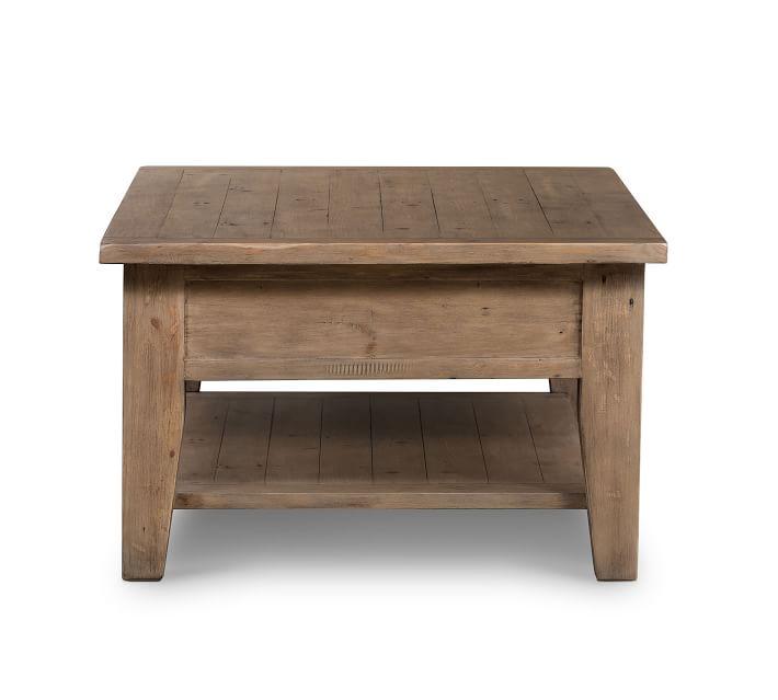 Beckett Reclaimed Wood Coffee Table, Sundried Ash