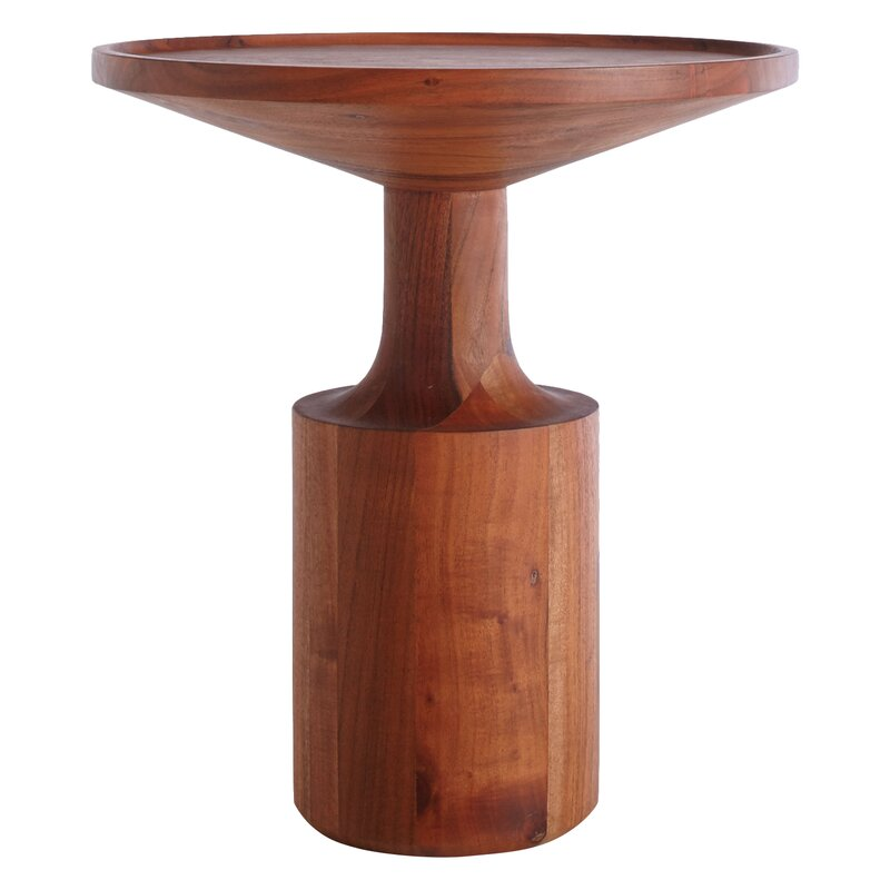 Turn Solid Wood Tray Top End Table