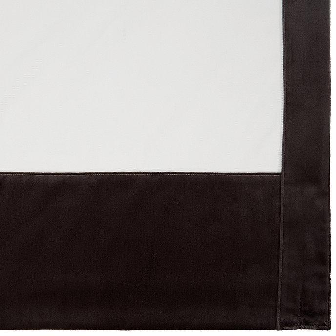 """Set of 2 Signature Velvet Framed Drapery Panel  Slate 96"""" - Ballard Designs"""