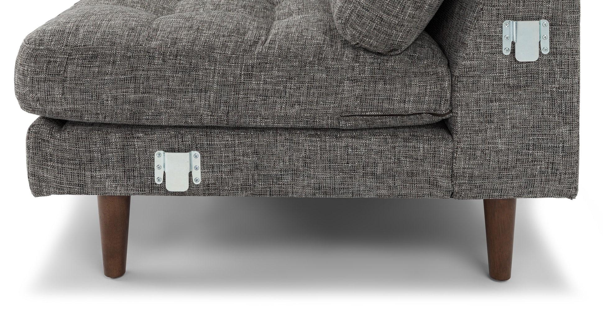Sven Briar Gray Right Sectional Sofa