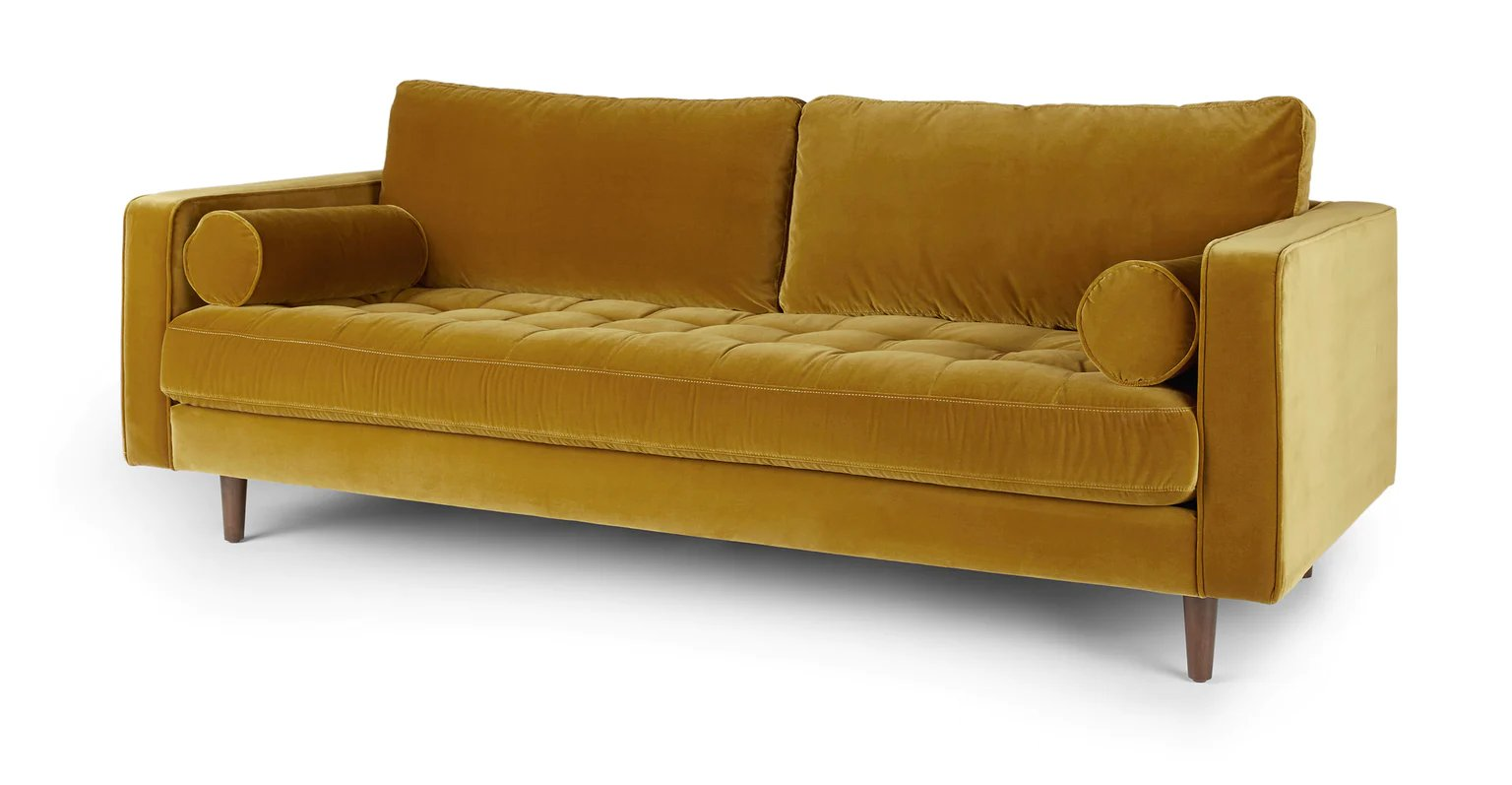 Sven Yarrow Gold Sofa