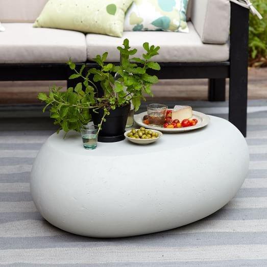 Pebble Coffee Table, Concrete