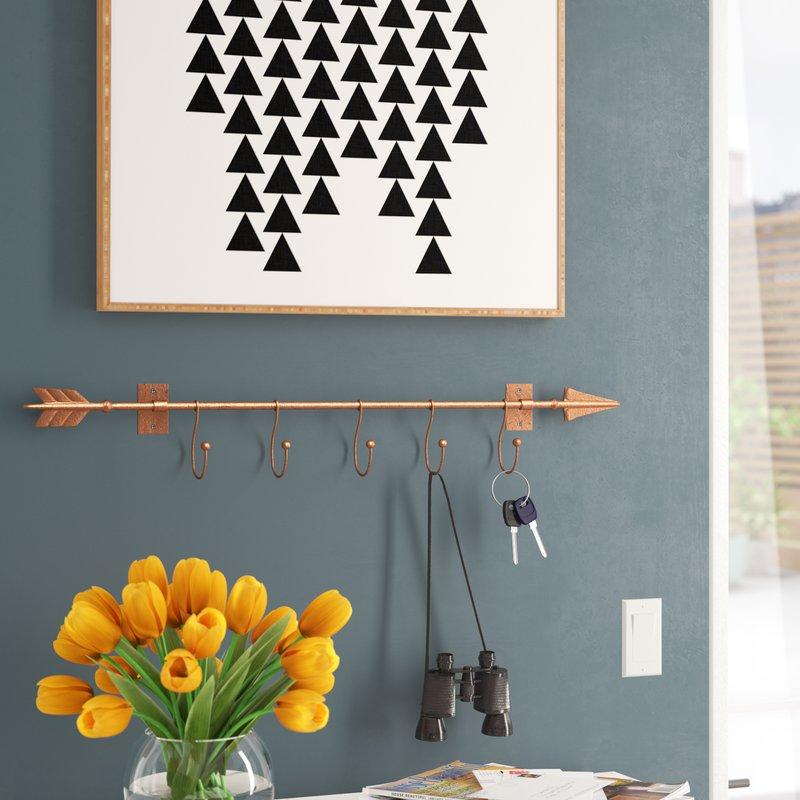 Dority Wall Mount Arrow with Hooks