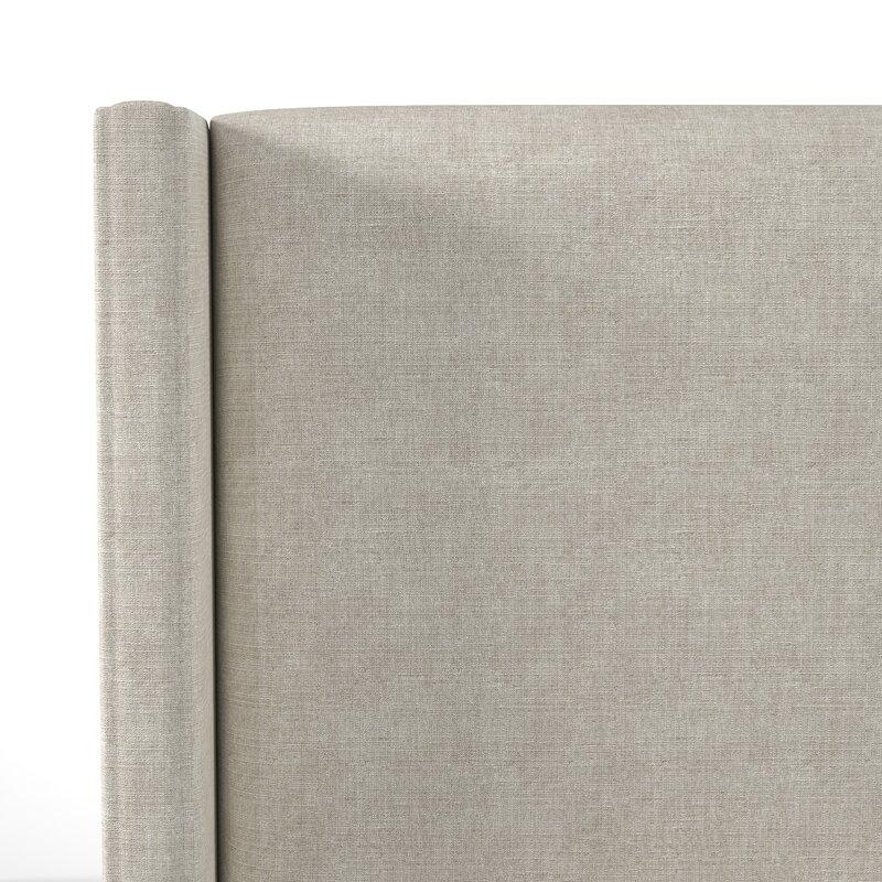 Sanford Upholstered Panel Bed- Talc