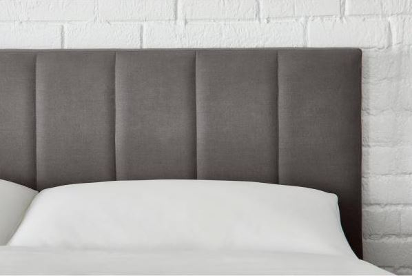 StyleWell Warrenton Charcoal (Grey) Gray Upholstered Queen Bed with Channel Tufting (61.18 in W. X 55.51 in H.)
