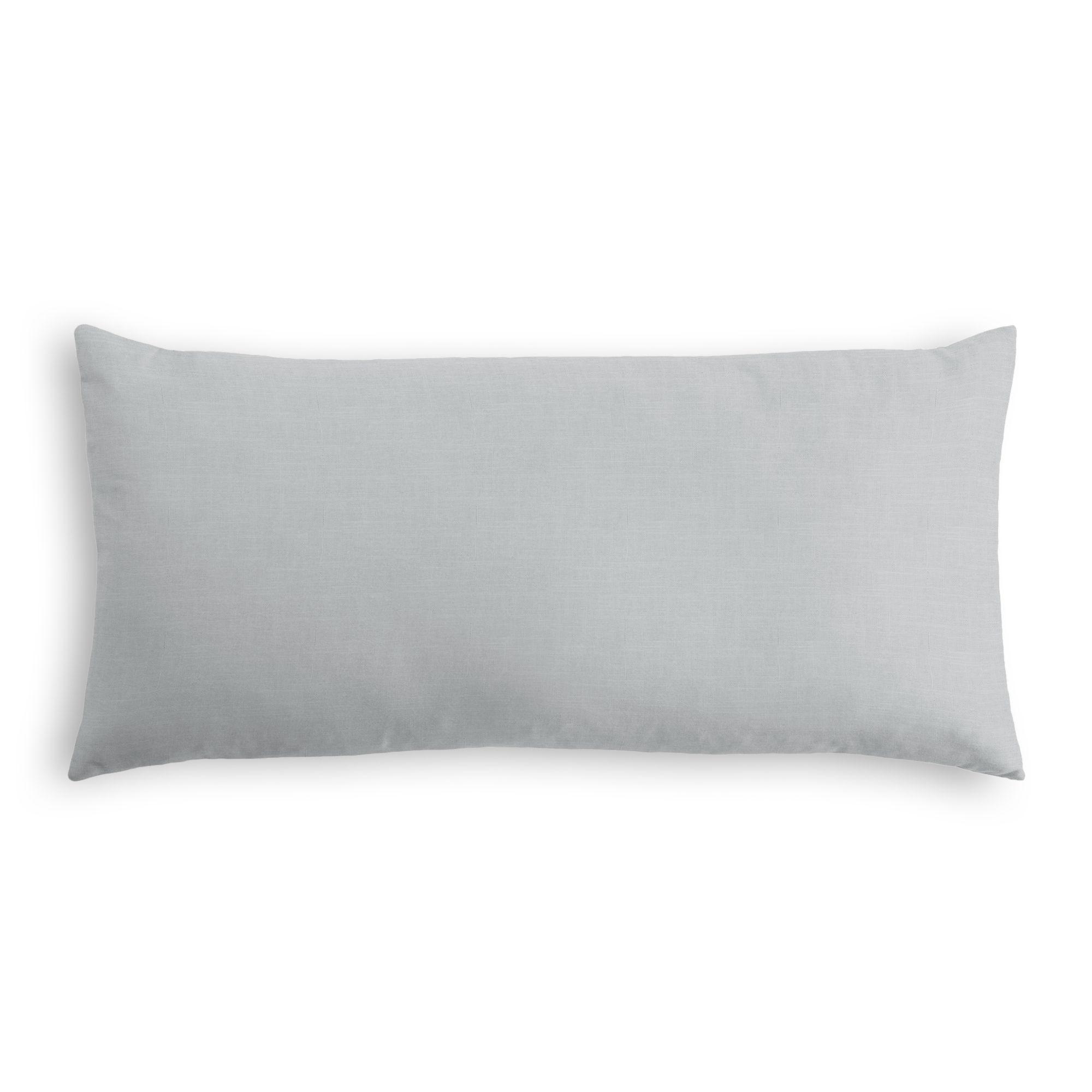 "Classic Linen Pillow, Classic Gray, 12"" x 18"" Lumbar"