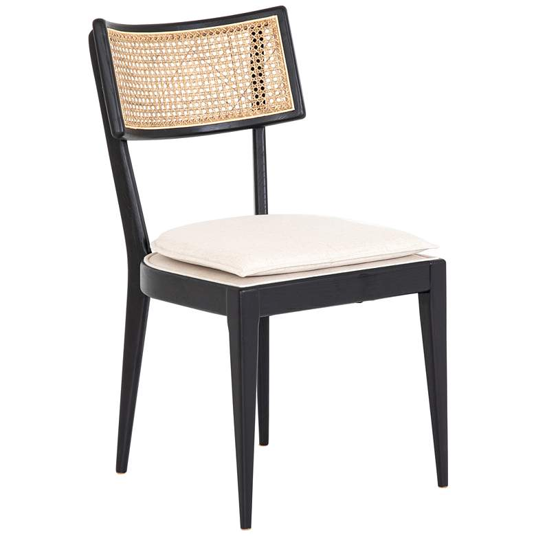 Britt Savile Flax and Brushed Ebony Nettlewood Dining Chair - Style # 96D43