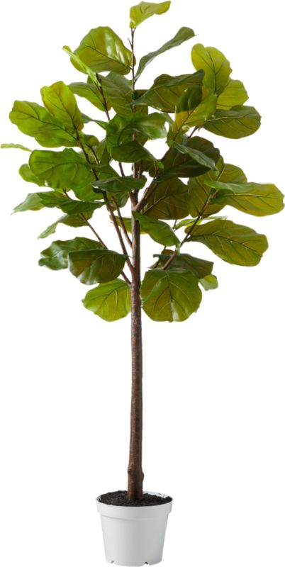 """Faux Potted 84"""" Fiddle Leaf Fig"""
