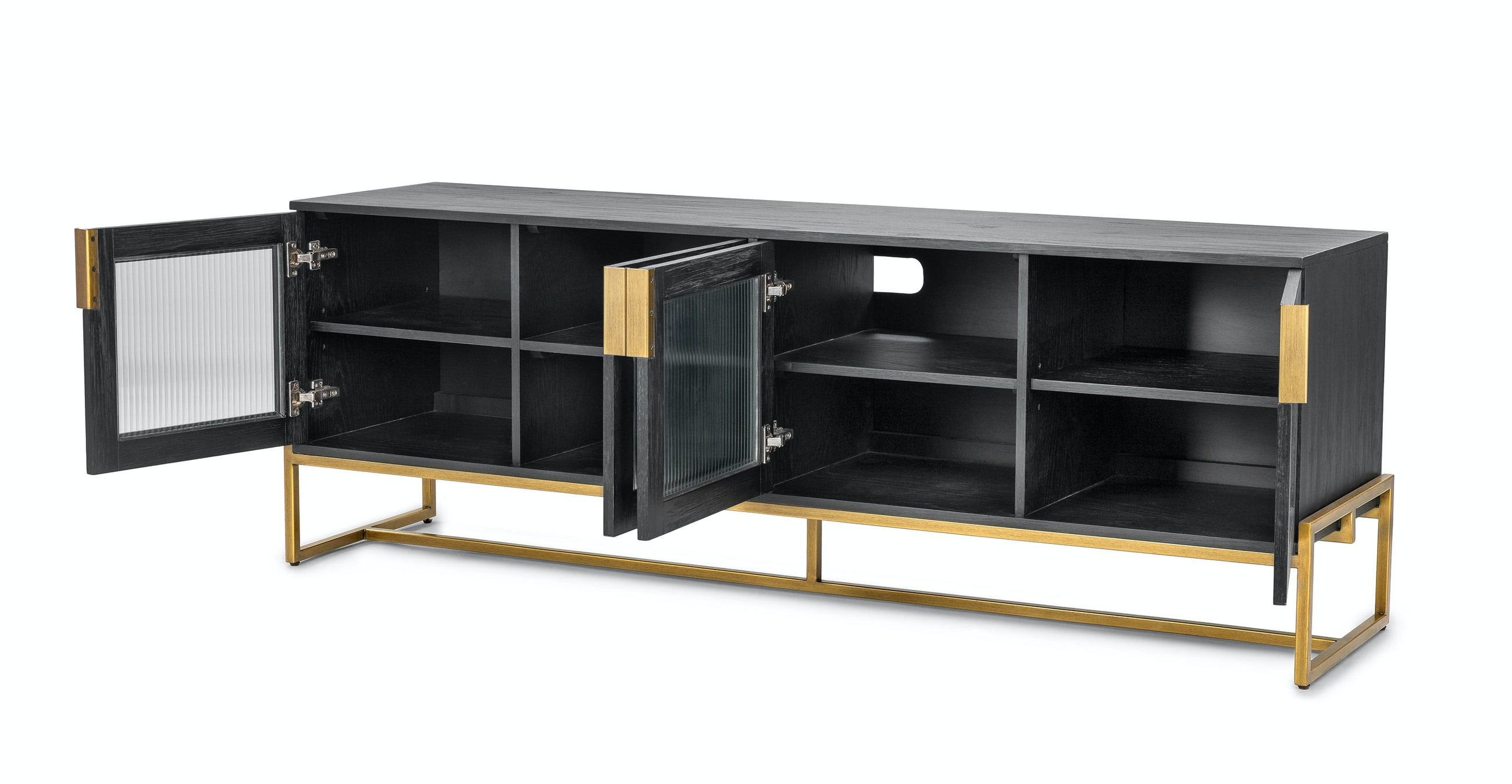 OSCURO CABINET -  BLACK AND BRASS