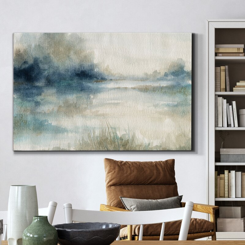 Still Evening Waters II-Wrapped Canvas Painting Print