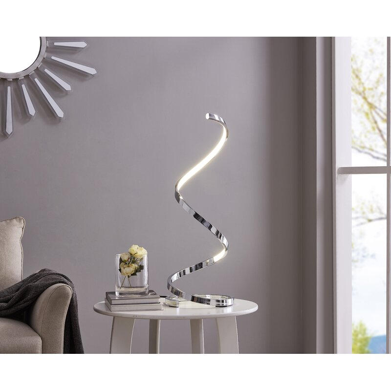 "Taquan Modern Spiral LED 31"" Table Lamp"