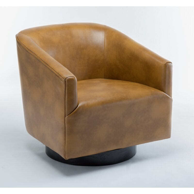 "Mcintyre Swivel 22.75"" W Barrel Chair - Camel"