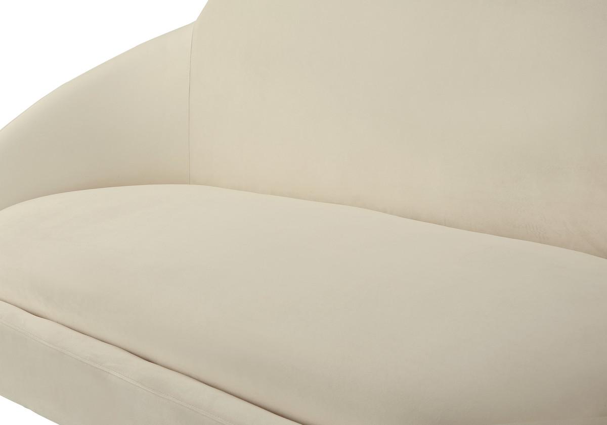 NMelodyeh Cream Velvet Settee