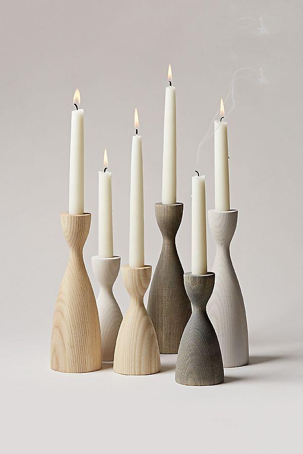 Farmhouse Pottery Pantry Candlestick - Medium Neutral ONLY