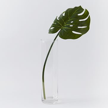 Faux Green Monstera Plant Leaf