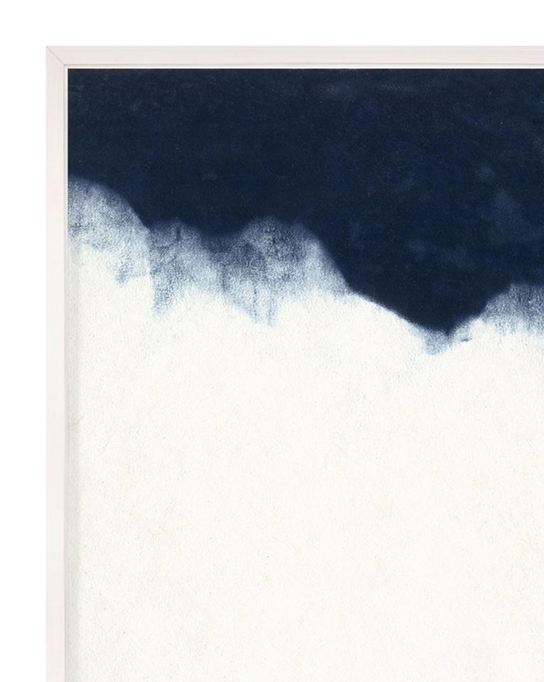 INDIGO WAVE NO. 3 Framed Art