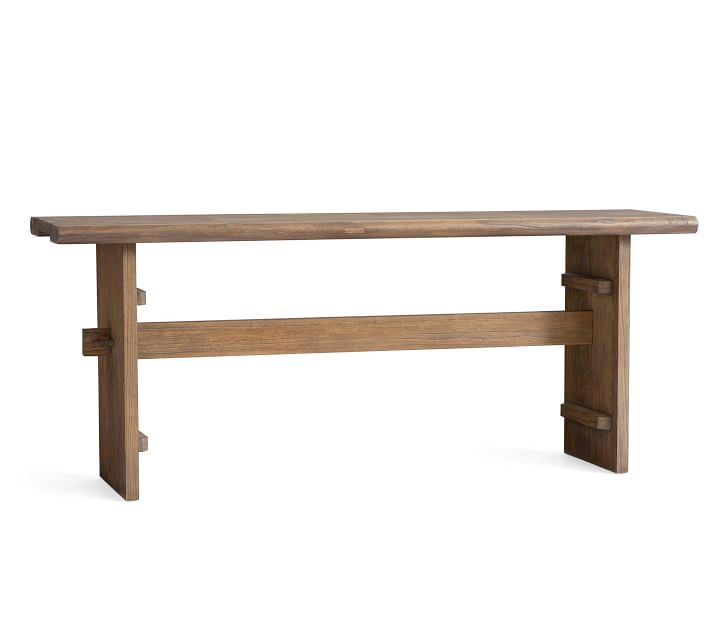 Easton Reclaimed Wood Console Table, Weathered Elm