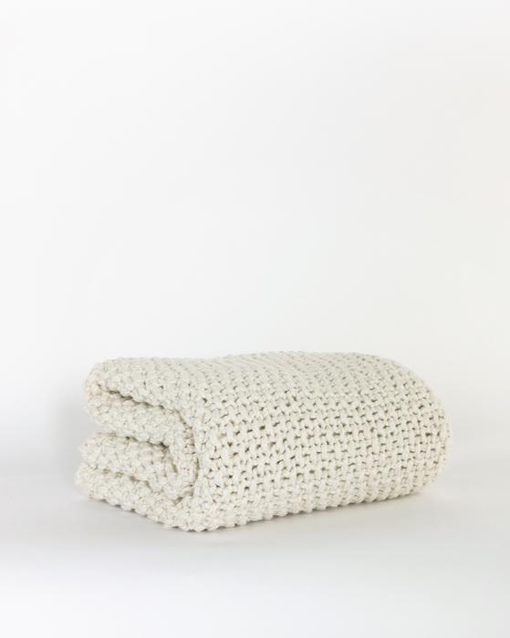 Lorrelle Cotton Knit Throw