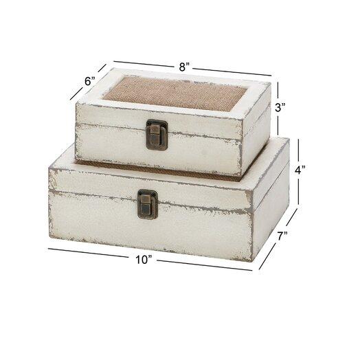 Kelia 2 Piece Decorative Box Set
