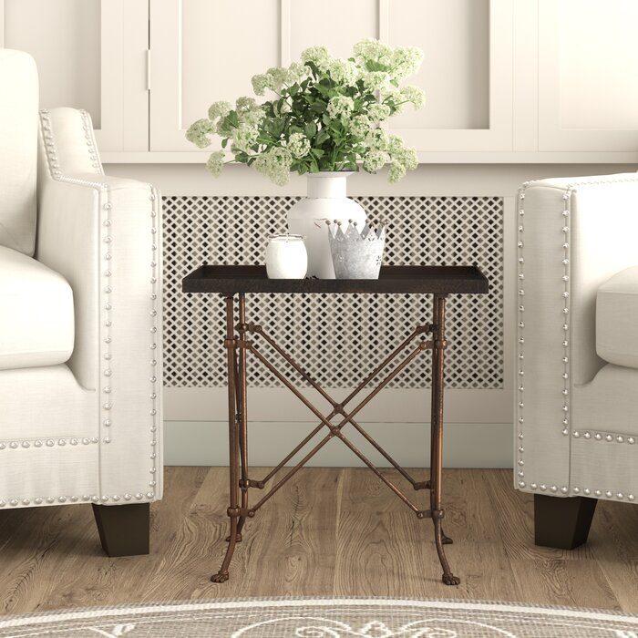 Eugenie Metal Accent Table