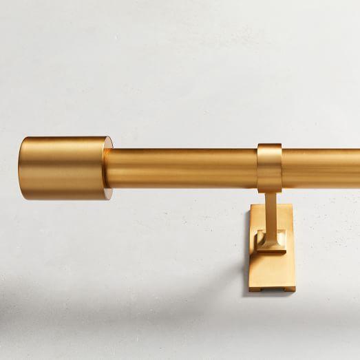"Oversized Metal Rod, 60""-108"", Antique Brass"