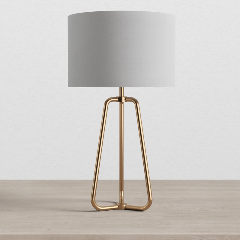 """25.5"""" Table Lamp, Antique Brass"""