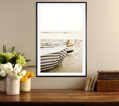 """Boat Cover by Lupen Grainne, 28 x 42"""", Wood Gallery, Black, Mat"""