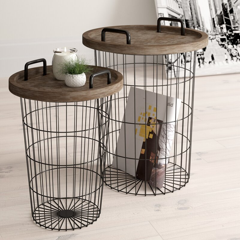 Janay 2 Piece Nesting Table