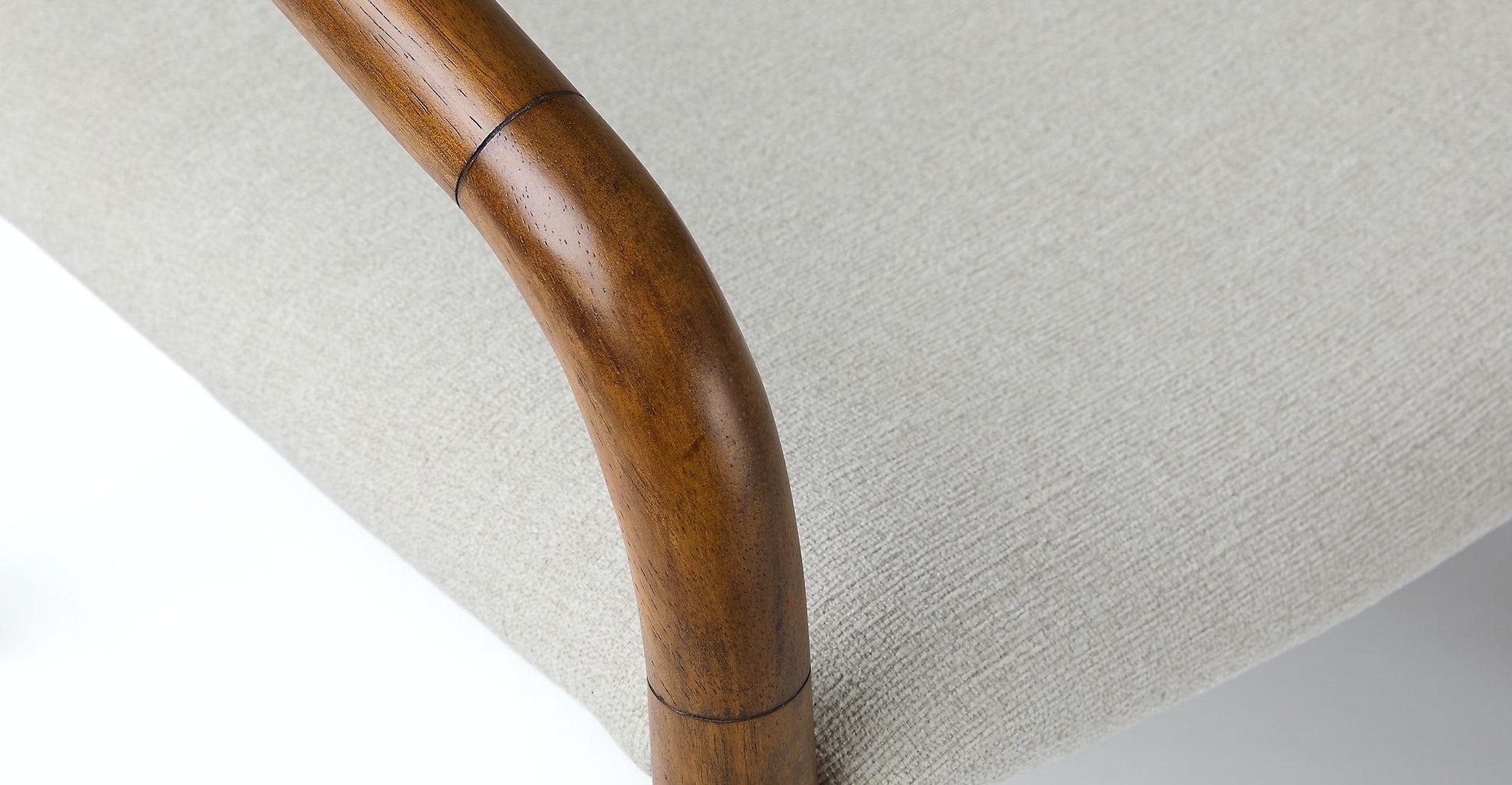 Lento Chalk Gray Lounge Chair