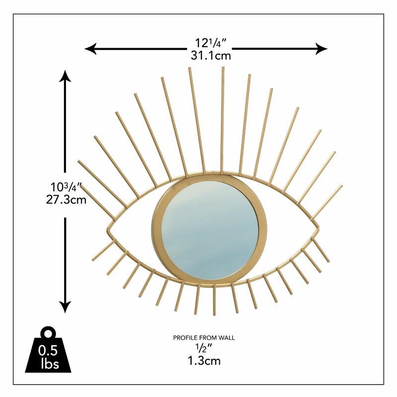 Mccombs Gilt Eye Glam Accent Mirror