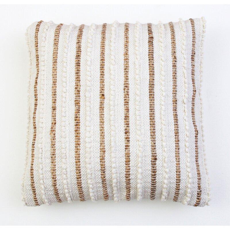 """Valeriane Striped 20"""" Throw Pillow"""