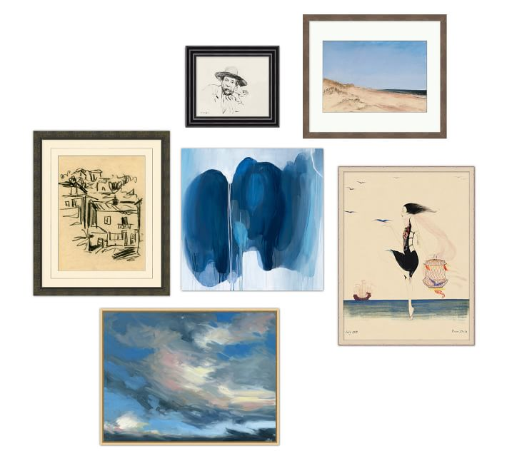 Livingroom Art Gallery in a Box, Set of 6