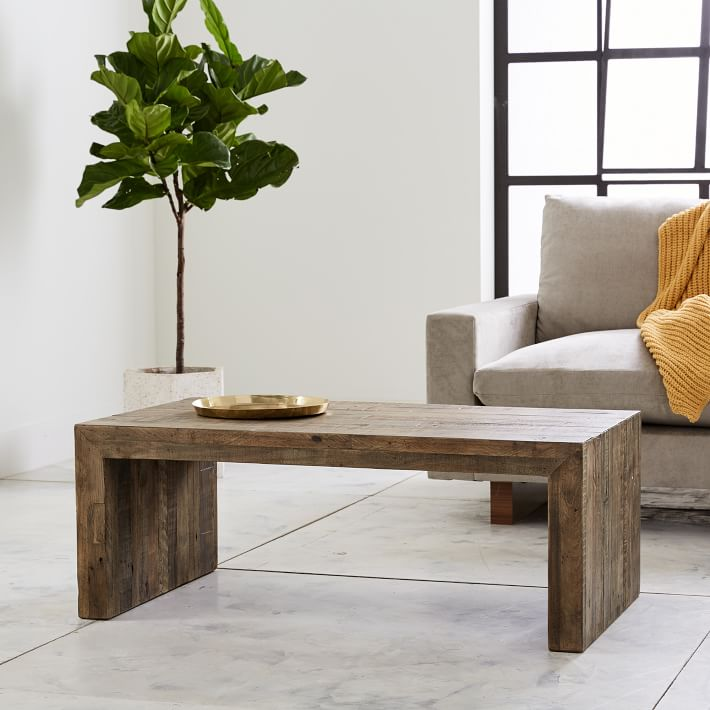 Emmerson® Reclaimed Wood Coffee Table, Stone Gray