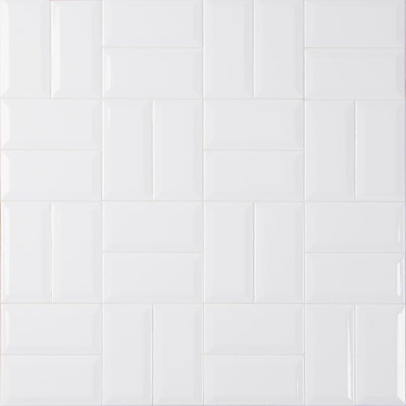 """Dona Beveled 3"""" x 6"""" Ceramic Subway Tile"""