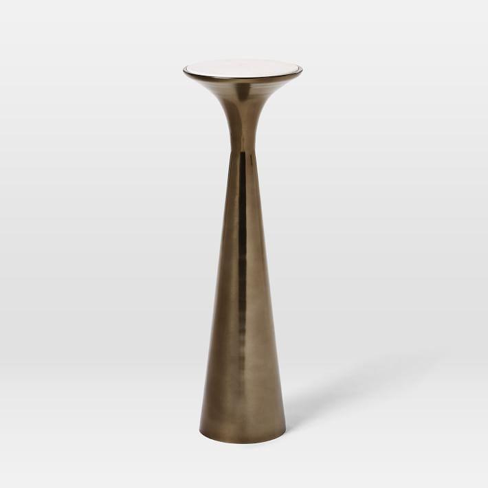 Silhouette Drink Table, Marble/Metal