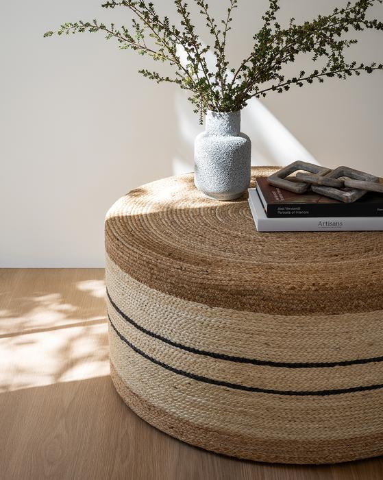 Brynlee Woven Ottoman