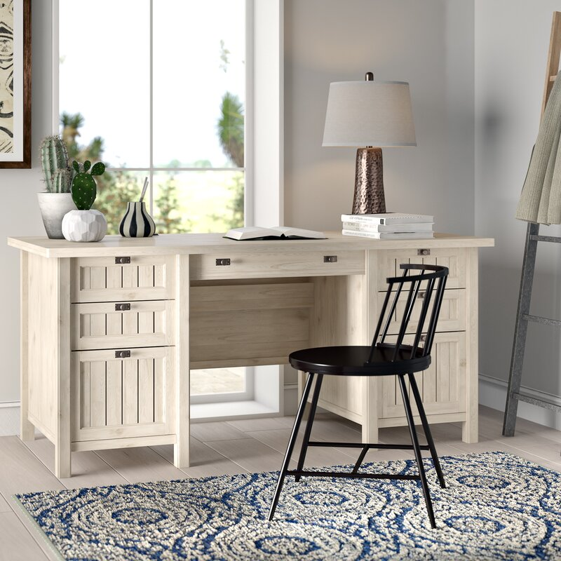 Campbell Executive Desk / Chalked Chestnut