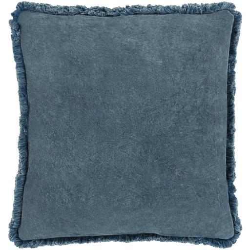 "Reina Pillow Cover, 18""x 18"", Denim"