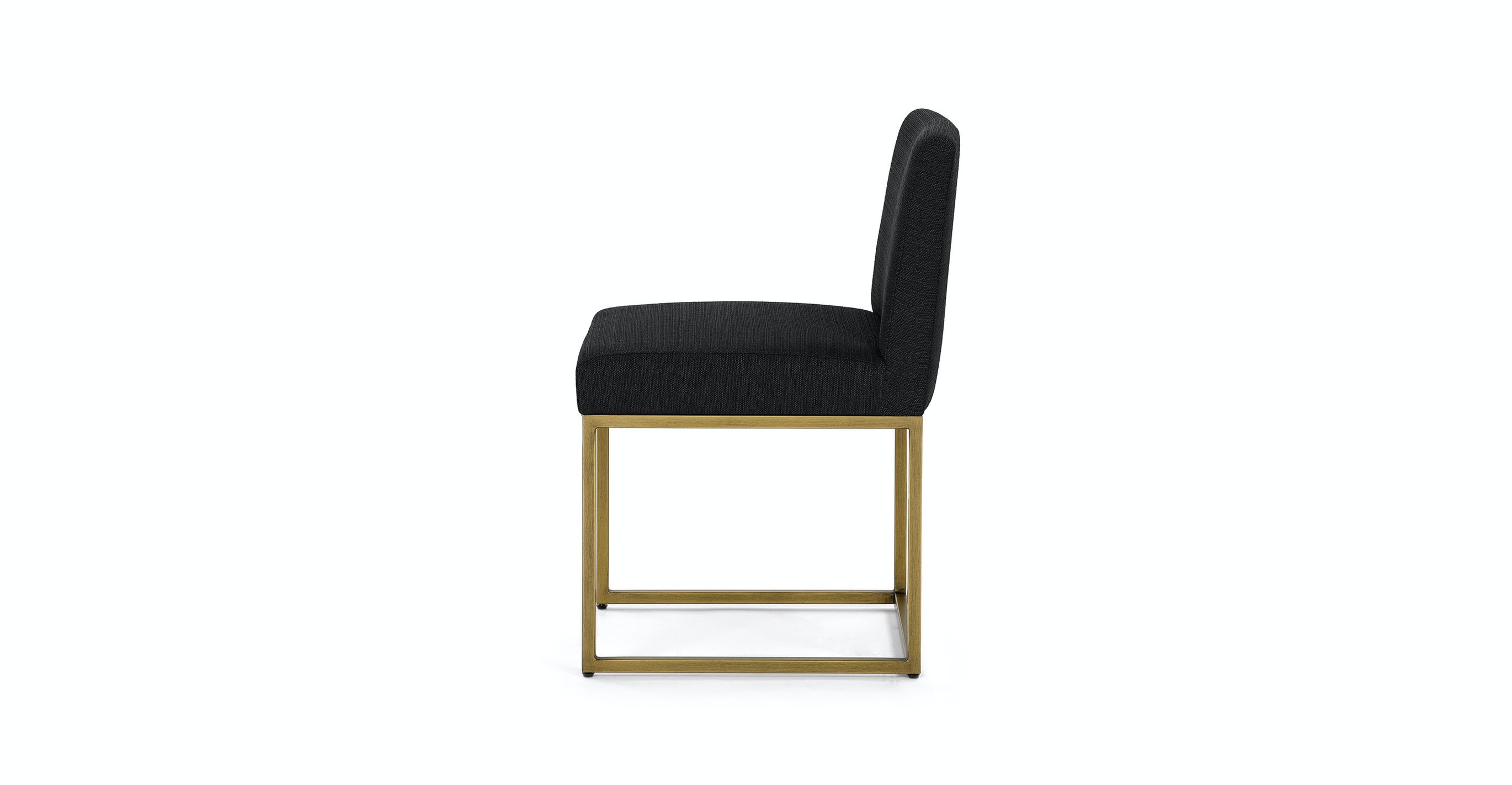 Oscuro Pure Black Dining Chair Pair